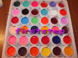 Kit unghii false tehnice set gel uv color 36 bucati COCO culori mate geluri colorate construsctie lampa uv, Gel colorat