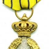 ROMANIA MEDALIA SEMN ONORIFIC 25 ANI IN SERVICIU MILITAR CU PANGLICA STARE EXCELENTA - Medalii Romania
