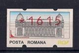 Timbru automat nominal 1615 lei