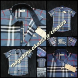 CAMASA BARBATI GEN FIRMA BURBERRY BLEU GRI BLEU MANECA SCURTA REGULAR FIT