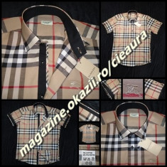 CAMASA BARBATEASCA BEJ NUDE MANECA SCURTA GEN FIRMA BURBERRY REGULAR FIT - Camasa barbati Burberry, Marime: M