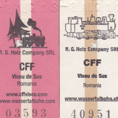 Lot 2 Bilete tren ( Mocanita jud MM) CFF, Viseu de Sus