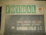 FOTBAL - (21 iunie 1972) numai pagina 1 - interviu cu Sandro Mazolla (inaintea meciului cu Italia) si prim plan cu Hajnal realizate de Ioan Chirila