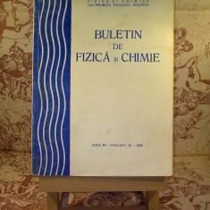 Buletin de fizica si chimie Anul IV Volumul IV 1980 - Carte Fizica