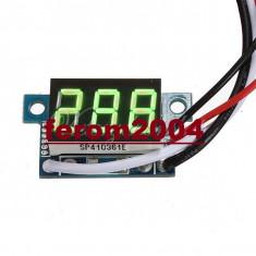Ampermetru digital cu leduri verzi, 100A, foarte precis, afisaj cu 3 digit