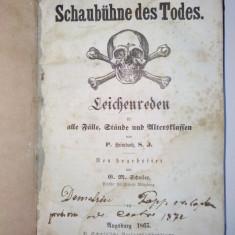 Discursuri de inmormantare pentru toate genurile si nivelurile de varsta Augsburg 1865 ( in limba germana ) - Carti Crestinism