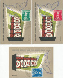 RFL 1958 Exil ROMANIA set rar de 3 ilustrate maxime serie dantelata Europa