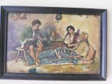 GENERATII DE LAUTARI - ULEI PE CARTON - DIMENSIUNI 45 X 30 CM ( 48 X 33 CM ), Portrete, Realism