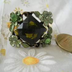 Splendid si de efect Inel vintage cu piatra si ornamente florale (reglabil ) - Inel fashion
