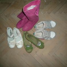 Incaltaminte copii - Adidasi copii Nike, Marime: 31, 32, 33, Culoare: Alb, Khaki, Roz, Fete, Marime: 33, Piele naturala