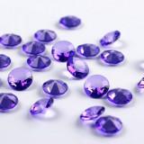 Cristale diamant mov - Decoratiuni nunta