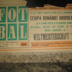 FOTBAL - (19 iulie 1972) numai pagina 1 - interviu cu Ion Barbu realizat de Eftimie Ionescu, prim plan Vasile Suciu de Ioan Chirila
