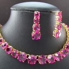 Set de bijuterii superb, Glamour placat cu Aur Alb 18K, Round Brilliant Cut - Set bijuterii aur alb