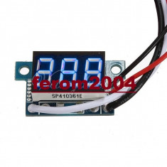 Ampermetru digital cu leduri albastre, 100A, foarte precis, afisaj cu 3 digit