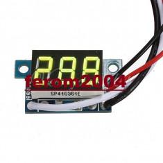 Ampermetru digital cu leduri galbene, 100A, foarte precis, afisaj cu 3 digit