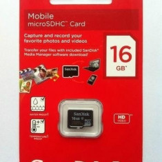 Card    Micro  SD 16GB  NOU   Micro SD