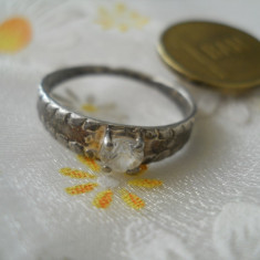 Inel vechi 800 lucrat manual deosebit cu piatra - Inel argint