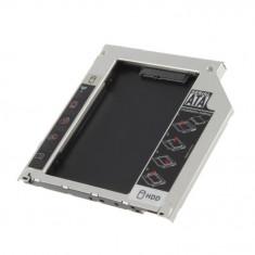 Caddy adaptor pt laptop de la unitate optica la HDD SATA, 12.7mm  12.7 mm 12,7mm
