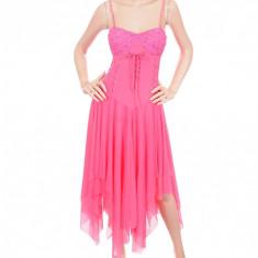 Rochie Superba de Culoare Roz, Marime: S, Culoare: Din imagine