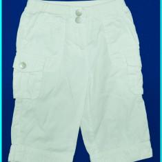 Pantaloni de vara 3/4, bumbac doc alb, marca C&A Palomino _ fetite | 2 - 3 ani, Marime: Alta, Fete