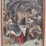 DEZMAT - TEMA MEDIEVALA - ULEI PE CARTON PRESAT - 50 X 40 CM - Pictor roman