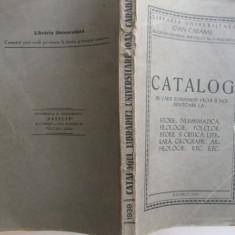 Ioan Carabas Catalog de carti romanesti vechi si noi privitoare la istorie, numismatica, filologie, folclor Bucuresti 1939 - Carte veche