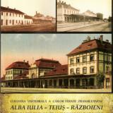 Brosura feroviara - Coloana vertebrala a cailor ferate Transilvanene:  Alba Iulia - Teius - Razboieni