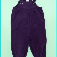 DE FIRMA _ Pantaloni tip salopeta, catifea, subtiri, H&M _ fetite | 9 - 12 luni, Marime: Alta, Culoare: Mov, Fete