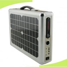 SISTEM SOLAR PT.PRODUCERE A ENERGIEI ELECTRICE, 15 watt, PANOU VOLTAIC, ACUMULATOR