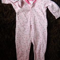 Salopeta compleu romper pentru fetite, marimea 2-3 ani, ideal de casa, de somn, Culoare: Roz, Roz