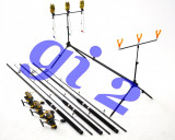 Set de 3 lansete  3m cu mulinete KT5000A 9 rulmenti, si rod pod full echipat