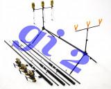 Set de 3 lansete  3m cu mulinete KT5000A , si rod pod full echipat