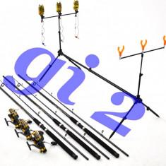 Set de 3 lansete SELECT 2, 7m cu mulinete KT5000A 9 rul, si rod pod full echipat - Set pescuit