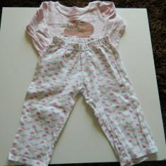 Pijama pentru fetite, set de interior, de casa, marimea 2 ani, Culoare: Roz, Roz