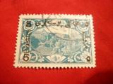 Serie Uzuale 5 Piastri pe 2 Parale verde 1918 Turcia , 1 val.