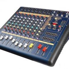 MIXER AUDIO AMPLIFICAT,600 WATT PUTERE,CITITOR MP3 USB INCLUS,IESIRE 4 BOXE,5 CANALE! OKAZIE!