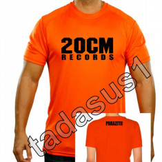 Tricou 20 cm records parazitii NOU!culoare din videoclip portocaliu! hip hop rap - Tricou barbati, Marime: XL, XXL, Culoare: Orange, Maneca scurta