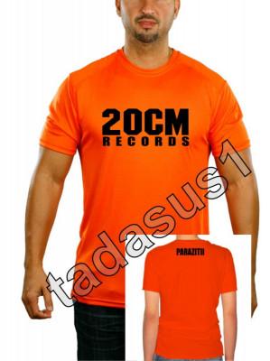 Tricou 20 cm records parazitii NOU!culoare din videoclip portocaliu! hip hop rap foto