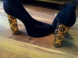Pantofi ASOS, 39, Negru, Cu toc