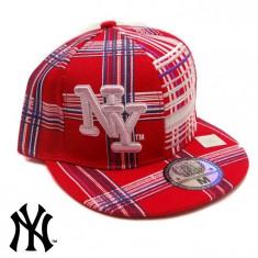 Sapca NEW YORK RED ORIGINALA - Sapca Barbati, Marime: Marime universala, Culoare: Rosu
