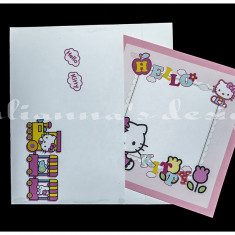 Invitatie Hello Kitty tip 1 - Invitatii botez