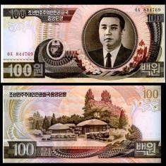COREEA DE NORD- 100 WON 1992- UNC!! - bancnota asia