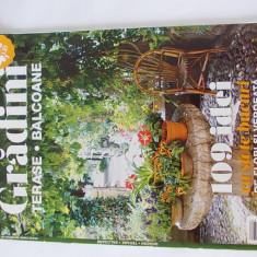 REVISTA GRADINI TERASE BALCOANE, 109 IDEI CA SA TE BUCURI DE FLORI SI VERDEATA . - Revista casa