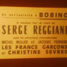 Bilet cu tarif redus la concertul actorului-cantaret Serge Reggiani de la Bobino-Paris