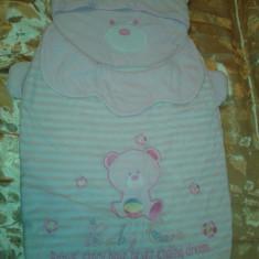 Lot 40 sac / port bebe carucior pentru fetite - ursulet foarte dragut - pentru 0 luni - 2 ani