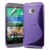 Husa HTC One M8 2014 + folie protectie display + stylus