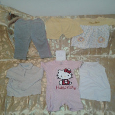 Lot 41 mar 86 pijamale vara, haine de casa - haine bebe fetite 6 buc