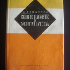 E. FRONESCU - ERORI DE DIAGNOSTIC IN MEDICINA INTERNA  {1970}