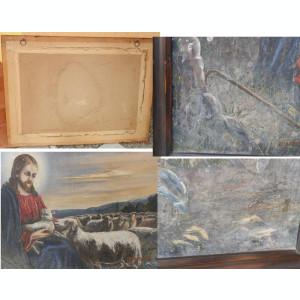 Pictura Isus cu turma de oi, reducere