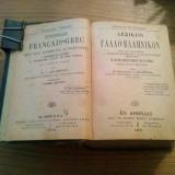 DICTIONNAIRE FRANCAIS-GREC * avec deux Appendices Alphabetiques  -- N. I. Delendas  --  Athenes, 19o8, 1519 p.
